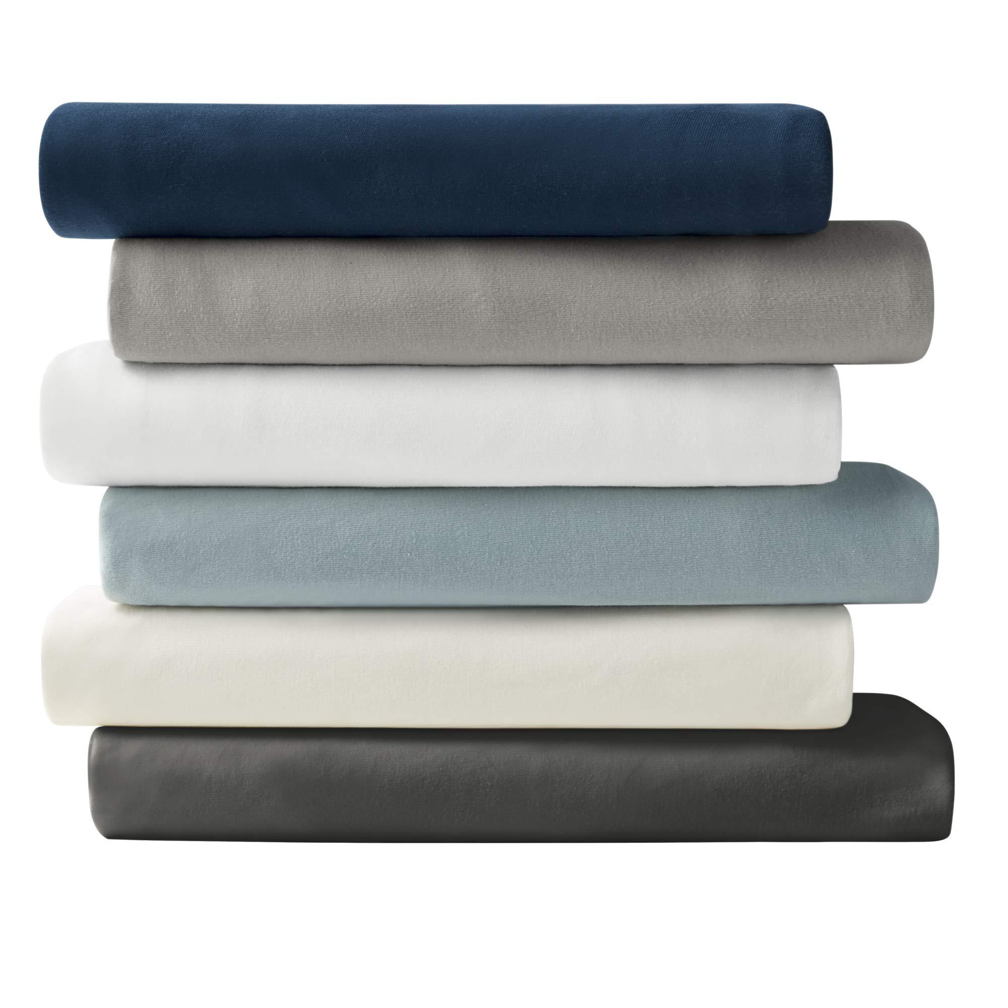 Brielle Cotton Jersey Knit (T-Shirt) Sheet Set, Queen, Charcoal