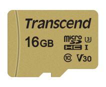 Transcend 16GB MicroSDXC/SDHC 500S Memory Card TS16GUSD500S