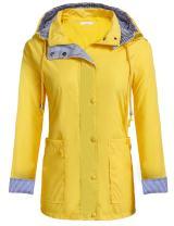 Zeagoo Women's Raincoat Lightweight Hooded Jacket Waterproof Packable Active Outdoor Rain Coats