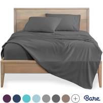 Bare Home Full Sheet Set - Kids Size - 1800 Ultra-Soft Microfiber Bed Sheets - Double Brushed Breathable Bedding - Hypoallergenic - Wrinkle Resistant - Deep Pocket (Full, Grey)
