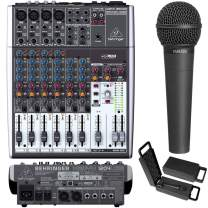 Behringer 1204USB 12-Input 2-Bus Mixer, XENYX/EQ with XM8500 Dynamic Microphone Bundle