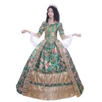 KEMAO Women's Victorian Rococo Dress Prom Dress Inspiration Maiden Costume Ball Gown Plus Size