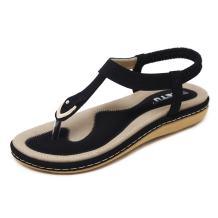 SAGUARO Women's Bohemian Rhinestone Summer Sandals Slip on Beach Flip Flop Flat Thong Shoes