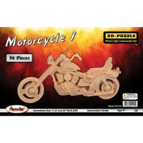Puzzled Motorcycle 3D Jigsaw Puzzle (96-Piece), 11.5 x 4.25 x 5.25