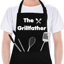 VEHHE Funny Aprons for Men Women with 2 Large Pockets, Black Kitchen Cooking Chef BBQ Aprons-Mothers Day, Birthday Gifts for Mom, Wife, Friend, Dad, Husband, Boyfriend