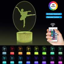 Ballerina Night Light with Remote Control 16 Color Changing, Best Ballet Dancing Gifts, Gifts for Mom, Birthday, Wedding, Grandmother Gifts, Valentines Gift, Graduation Gifts, Friendship Gifts
