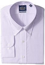 Eagle Men's Dress Shirt Tall Stretch Collar Big Fit Stripe