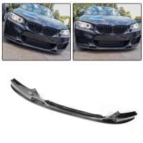 JC SPORTLINE fits BMW 2 Series F22 Coupe F23 Convertible 218i 220i 228i 230i M235i M240i M Sport M Tech 2014-2018 Carbon Fiber Front Chin Spoiler CF Bumper Lip Protector Guard