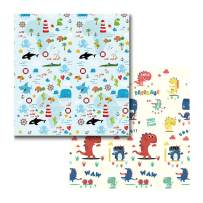 Folding Baby Play Mat XPE Baby Care PlayMat Baby Mat Kids Play Mat XPE Foam Floor Gym Slip Thickening Waterproof Portable Play Mat for Toddlers Nursery Outdoor or Indoor Use(1PCS Double Sided)