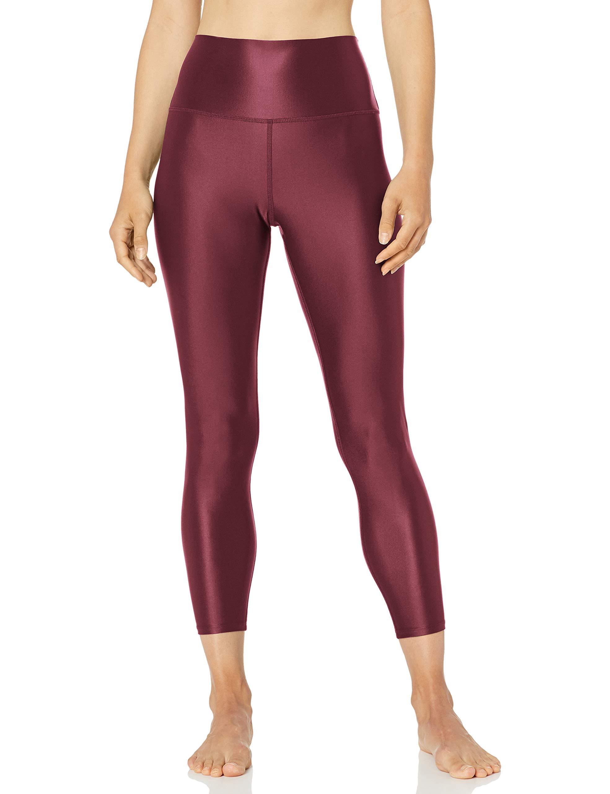 Amazon Brand - Core 10 Women's Icon Series Liquid Shine High Waist Yoga 7/8 Crop Legging