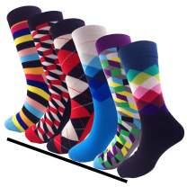 Dress Socks for Men Colorful Funny Novelty Colorful Cotton