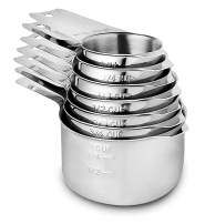 Measuring Cups Stainless Steel 7 Piece Stackable Set for Dry or Liquid Ingredients Measurement - Kitchen Gadgets & Utensils Metal Measuring Cups Best for Cooking & Baking