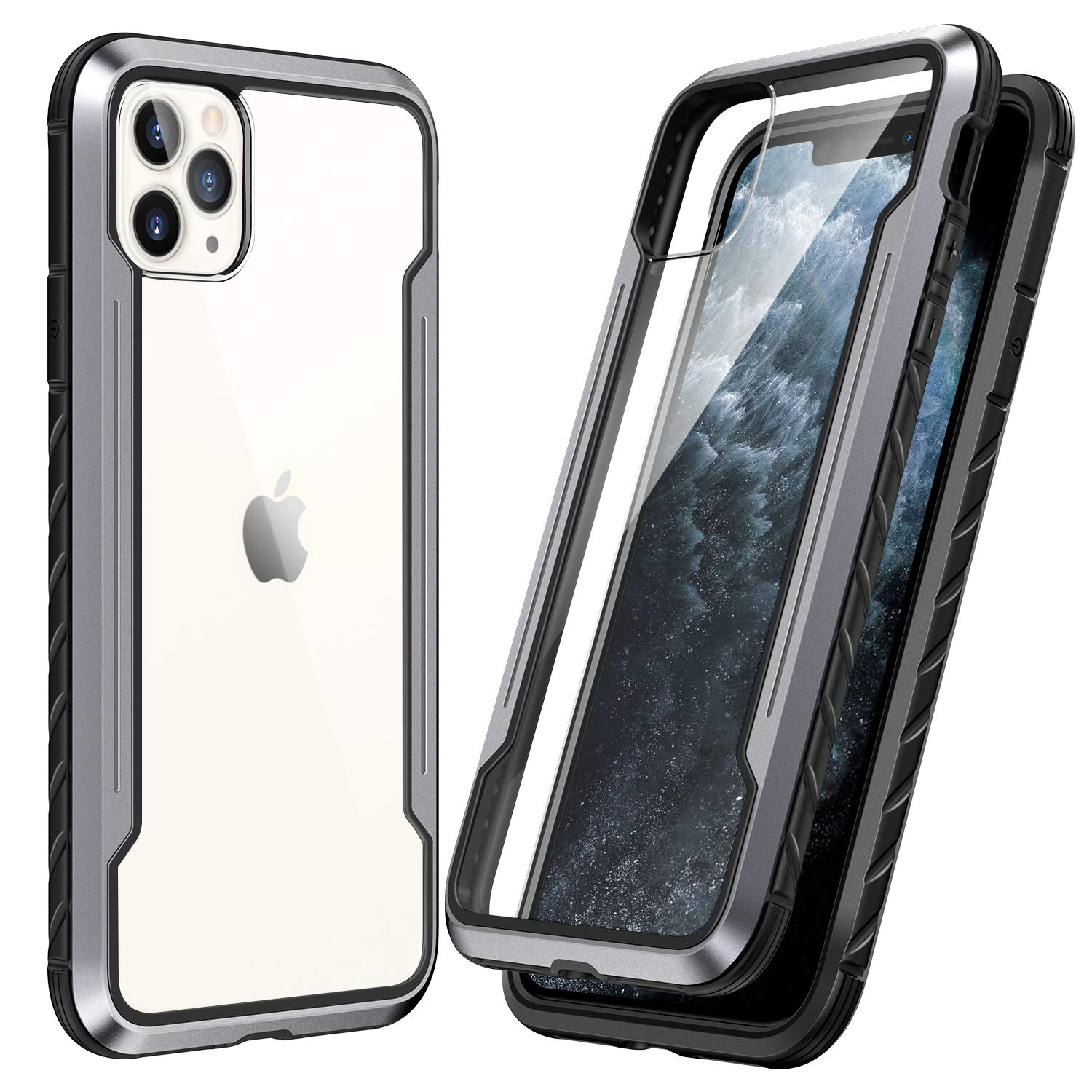 SmartDevil Shatterproof Series Designed for iPhone 11 Pro Cases, Passed Military Grade Drop Test, Anodized Aluminum, TPU, and Hard PC Protective Case for iPhone 11 Pro 5.8 Inch (Gray)