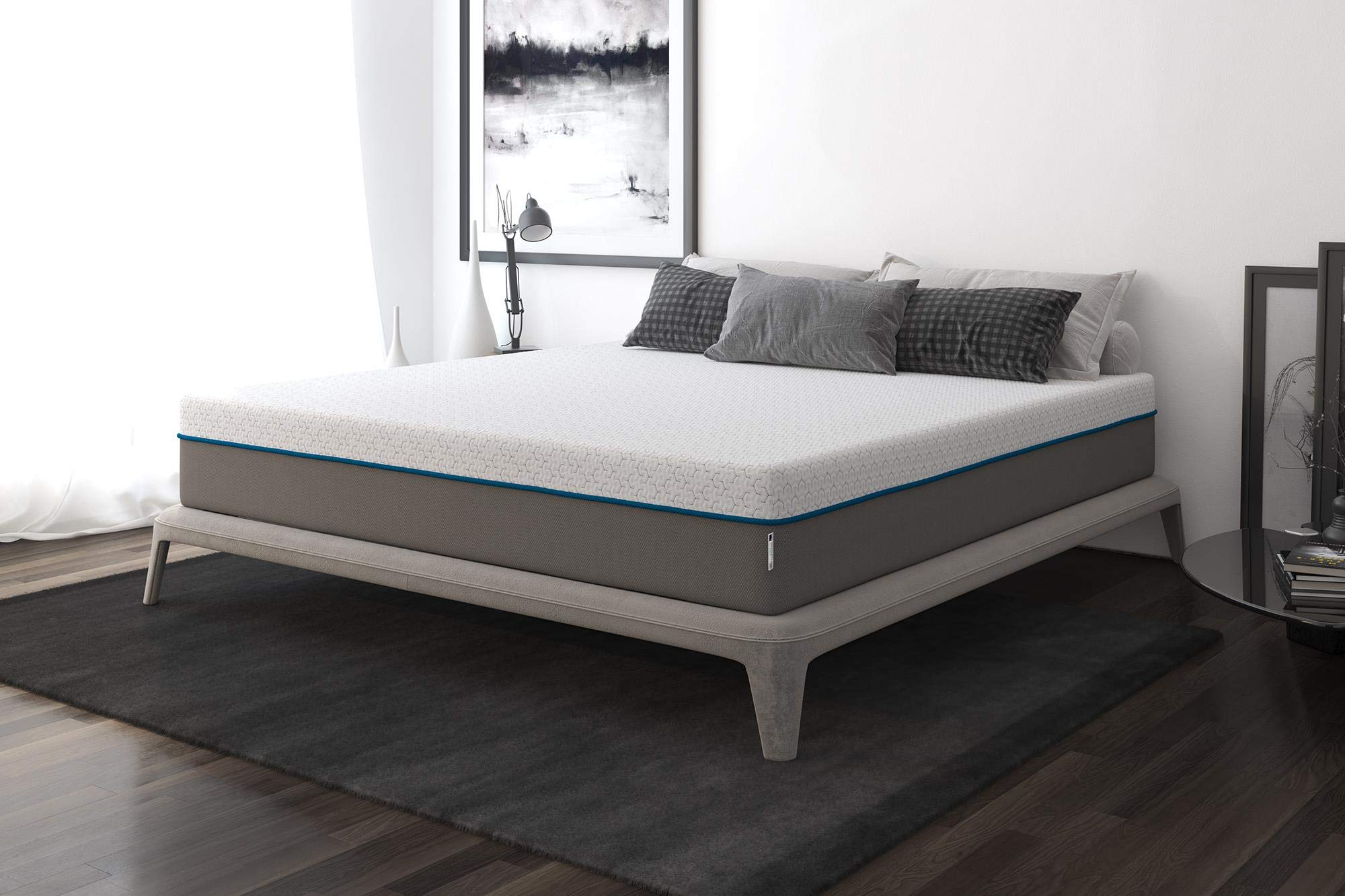 Signature Sleep Flex 12-Inch Charcoal Gel Memory Foam Mattress, King Size
