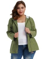 Hanna Nikole Women's Rain Jacket Lightweight Waterproof Hooded Active Outdoor Rain Jacket