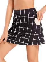 Jessie Kidden Women's Athletic Stretch Skort Tennis Skirts with Shorts and Pockets for Running Tennis Golf Workout Sports