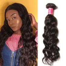 Ali Julia Hair 10A Brazilian Virgin Natural Wave Weave 1 Bundle 100% Unprocessed Human Hair Weft Extensions 95-100g/pc Natural Color (18 inch)