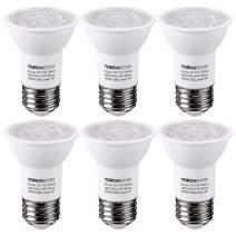 TORCHSTAR LED PAR16 Spot Light Bulbs, 6.5W(50W Eqv.) 500lm E26 Medium Base Dimmable Spotlight, 40° Beam Angle, UL & Energy Star Listed Track Light Bulb, 3000K Warm White, 3-Year Warranty, Pack of 6