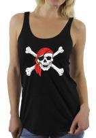 Awkward Styles Women's Jolly Roger Skull & Crossbones Racerback Tank Tops Pirate Flag Racerback Tank Tops