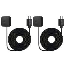 2Pack Weatherproof Outdoor Power Adapter for All-New Blink Outdoor & Blink XT / XT2, with 30ft/9m Long and Thin Charging Cable (NOT for Blink Mini) - Black