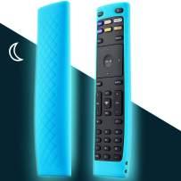 Remote Case Compatible with Vizio Smart TV Remote Control, for Vizio XRT136 LCD LED TV Remote Controller, Vizio Remote Cover Lightweight Anti-Slip Shockproof Silicone Skin Sleeve - Glow Sky Blue