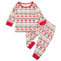 RCPATERN My First Christmas Outfits Newborn Baby Girl Clothes Long Sleeve Romper One-Piece Bodysuit Overall Jumpsuit Onesie