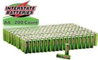Interstate Batteries AA Alkaline Battery 200 Pack - Workaholic (DRY7001)