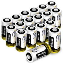 CR123A 3v Lithium Battery 18 Pack, Keenstone UL Certified Non-Rechargeable 1600mAh Lithium Batteries for Flashlight Torch Microphones (NOT for Arlo Cameras)