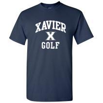 NCAA Arch Logo Golf, Team Color T Shirt, College, University