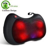 TENKER Cordless Shiatsu Massager Pillow, 2000mAh Lithium Battery, FDA Approved
