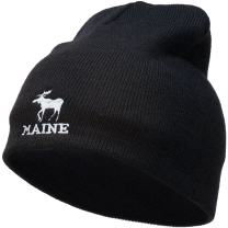 e4Hats.com Maine State Moose Embroidered Short Beanie