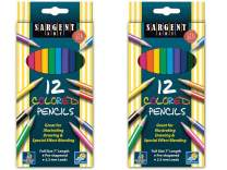 Sargent Art 22-7212 2 Packs of 12-Count Assorted Colored Pencils