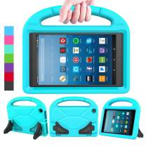 LEDNICEKER Kids Case for Fire HD 8 2018/2017 - Shockproof Handle Friendly Convertible Stand Kids Case for Fire HD 8 inch Tablet (7th & 8th Generation Tablet, 2017 & 2018 Release) - Turquoise