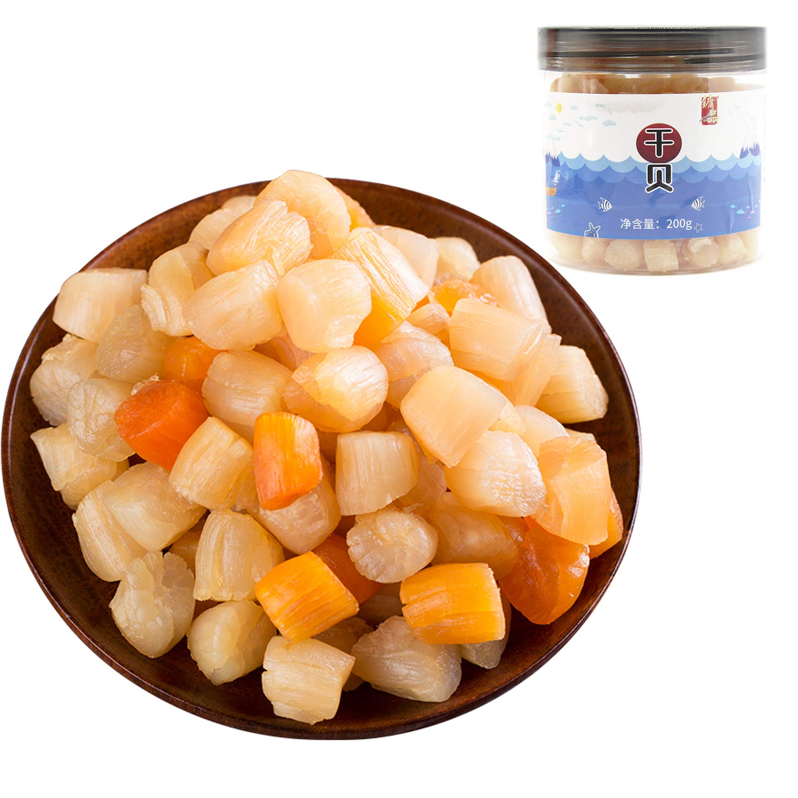 Dried Scallops Dried Seafood Conpoy Seafood use in Soup or Asian cuisine ingredient, 7 OZ (200 Gram)