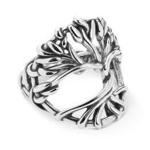 American West Sterling Silver Twisted Vine Tree of Life Ring Size 5 to 10