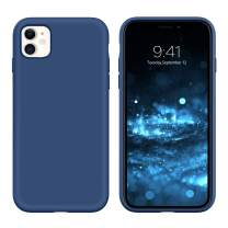 "DUEDUE iPhone 11 Case, Liquid Silicone Soft Gel Rubber Slim Cover with Microfiber Cloth Lining Cushion Shockproof Full Body Protective Case for iPhone 11 6.1"" 2019, Horizon Blue"