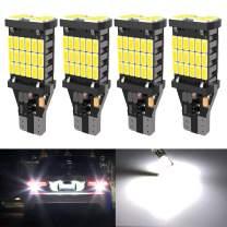4PCS Super Bright 921 T15 912 W16W LED Reverse Lights, Error Free 904 Led 921 Bulbs 45SMD-4014 Chipsets, Newest 912 921 906 LED Car Bulbs For Car Truck Backup Reverse Lights, 1500 Lumens 6500K White