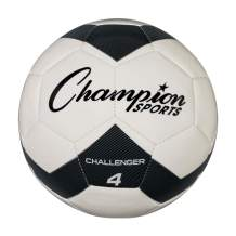 Champion Sports Challenger Soccer Ball, Size 4, Black/White