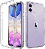 """Cubevit iPhone 11 Shockproof Case with Built-in Screen Protector, Rugged Anti-Drop Anti-Scratch Full-Body Protective Phone Case, [Premium Quality] Dual-Layer Bumper Clear Case Cover 2019(6.1"""")"""
