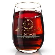 1969 51th Customized 24K Gold hand crafted luxury drinking and wine glass for wedding,anniversary,birthday,holidays and any noteworthy occasions,it's perfect gifts ideal for bridesmaids,wife and son