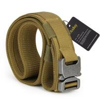 Aiduy Tactical Belt Heavy Duty Waist Belt Adjustable Military Style Nylon Belts with Metal Buckle Molle System 1.5""
