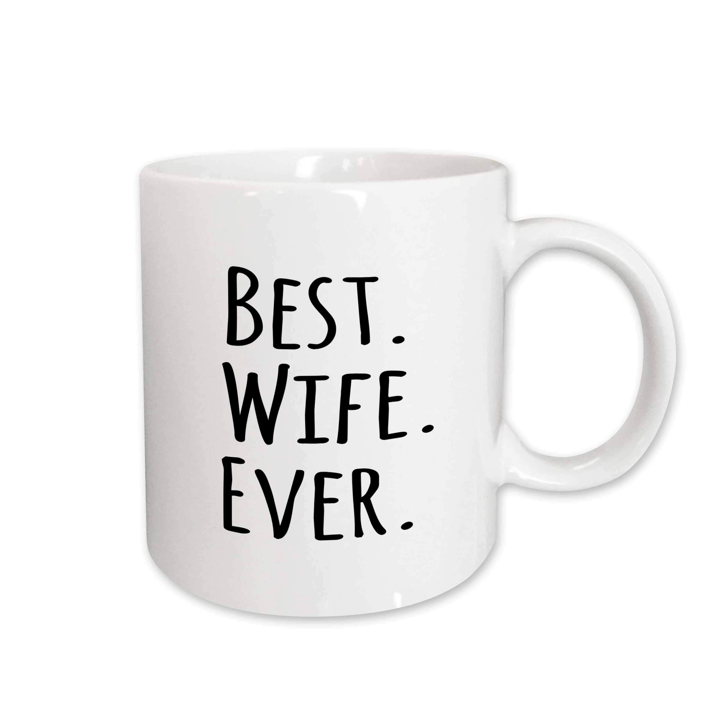 3dRose Best Wife Ever Romantic, Love Gifts for Her, Anniversary, Valentines Day, Ceramic Mug, 15-Oz