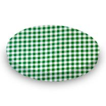 SheetWorld Round Crib Sheets - Green Gingham Check - Made In USA
