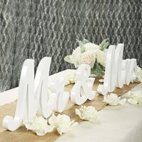 Haperlare White Wood Sign Vintage Style Mr and Mrs Sign Mr & Mrs Wooden Letters Rustic Wedding Signs for Wedding Table,Photo Props,Party Table,Top Dinner,Rustic Wedding Decorations