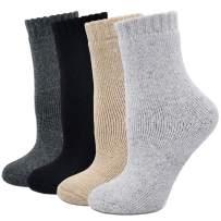 Womens Winter Soft Warm Fuzzy Comfy Thermal Wool Crew Socks