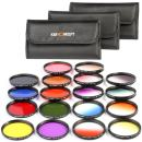 58mm Lens Filter kit, K&F Concept 58mm 18pcs Round Filter Set 9pcs Full Color Filter Kit +9pcs Slim Graduated Filter Kit +Filter Pouch