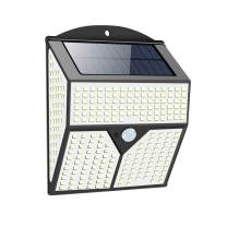 Solar Lights Outdoor Motion Sensor 436 LEDs Security Wall Lights with 3 Lighting Modes Solar Powered IP65 Waterproof for Garden Yard Garage Deck Patio