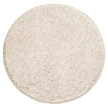 "mDesign Soft Microfiber Polyester Non-Slip Round Spa Mat/Runner, Plush Water Absorbent Accent Rug for Bathroom Vanity, Bathtub/Shower, Machine Washable - 24"" Diameter - Heather Linen/Tan"