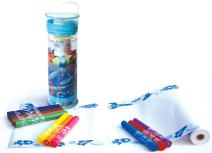 The Piggy Story 'Astronaut Adventure' Create & Doodle Art Paper Roll Travel Set with Markers