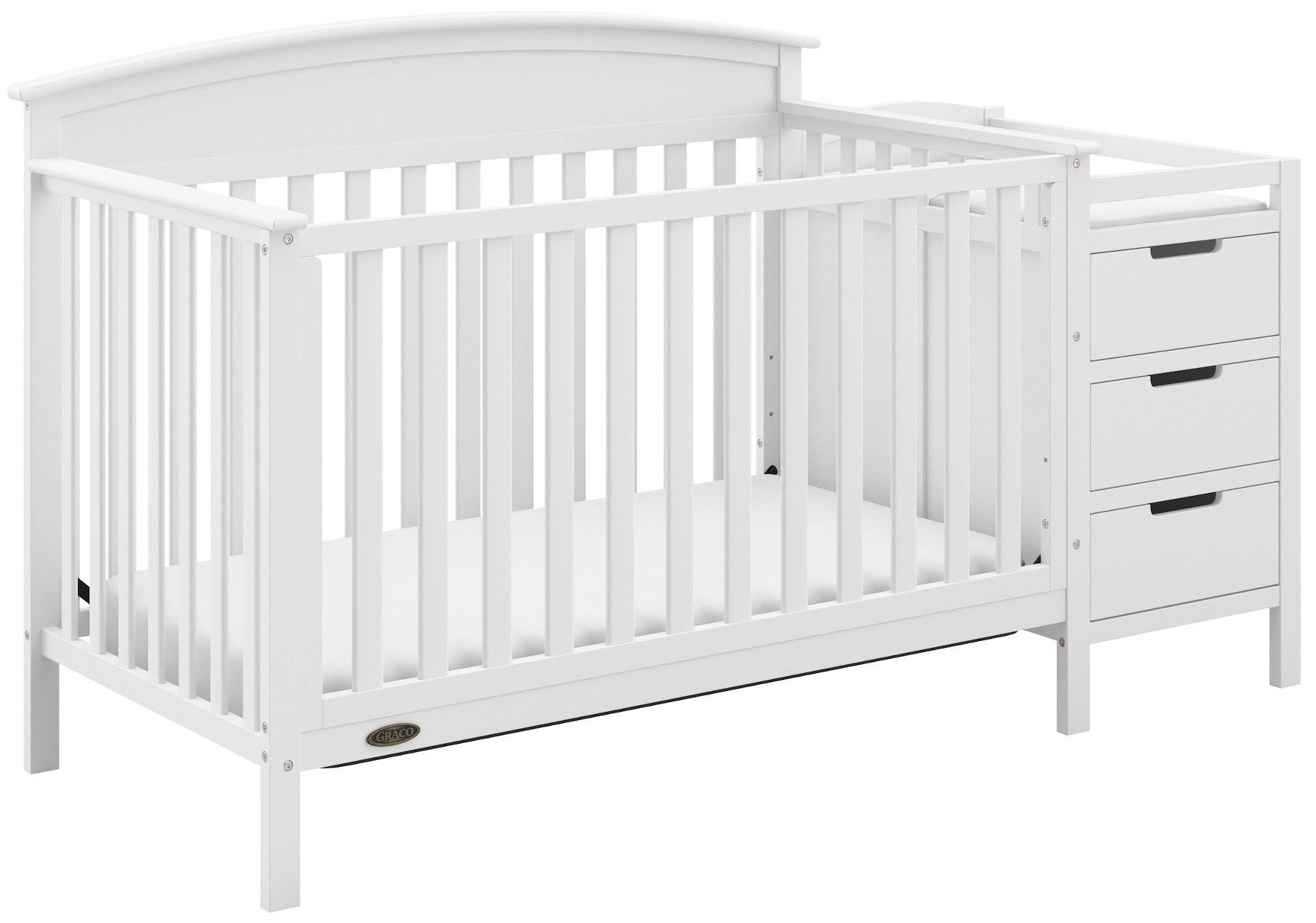Storkcraft Graco Benton 4 In 1 Convertible Crib Crib Toddler Bed Daybed Full Size Bed 04530 211 Model White Color